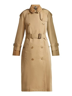 Burberry Double Layer Cotton Gabardine Trench Coat