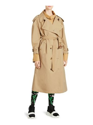 Burberry double layer trench coat