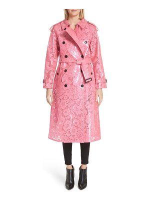 BURBERRY Eastheath Coated Lace Trench Coat