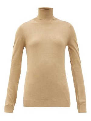 Burberry elaina roll-neck two-tone wool-blend sweater