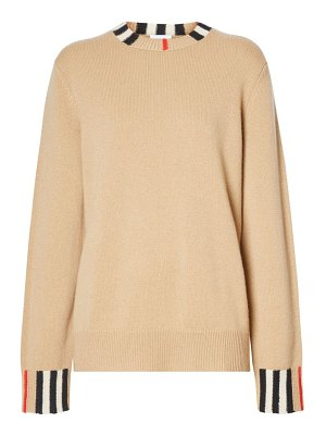 Burberry eyre check detail cashmere sweater