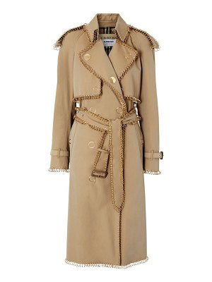 Burberry gold pierced trenchcoat