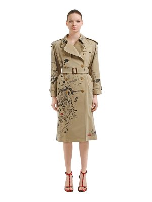 Burberry Graffiti printed cotton trench coat