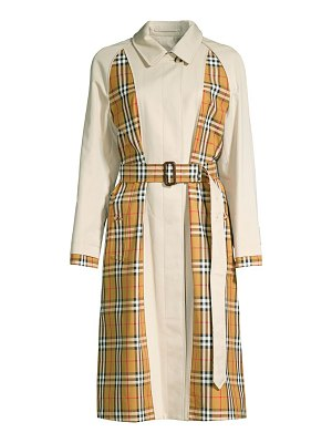 Burberry guiseley inside-out check trench coat