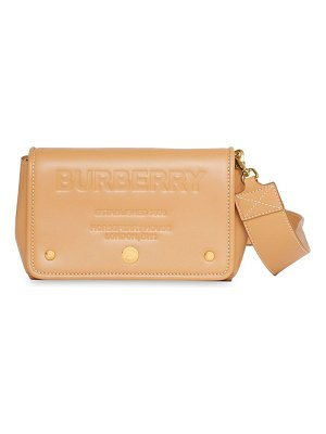Burberry hackberry leather crossbody bag