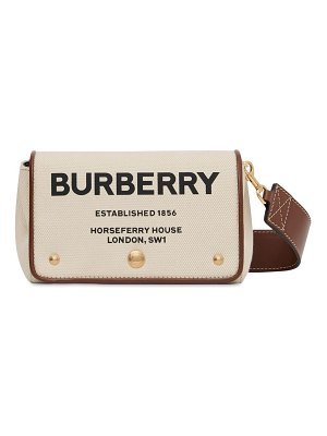 Burberry Hackberry logo printed canvas bag