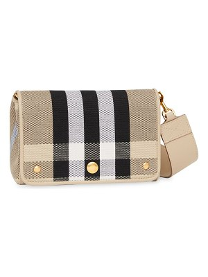 Burberry hackberry vintage check canvas crossbody bag