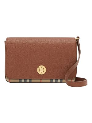 Burberry Hampshire Small Vintage Check Canvas & Leather Crossbody Bag