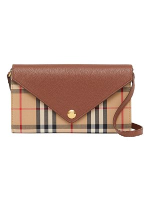 Burberry Hannah EV Vintage Check/Leather Crossbody Bag