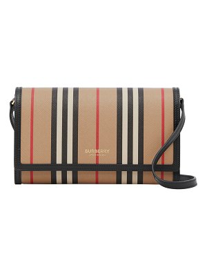 Burberry Hannah Icon Striped Wallet/Crossbody Bag