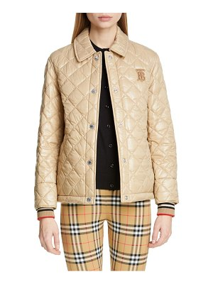Burberry heathfield frinton knit cuff quilted jacket
