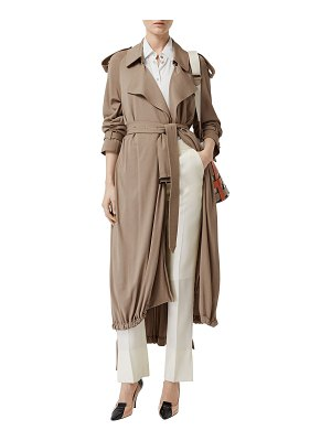 Burberry Heavy Draped Wrap Coat