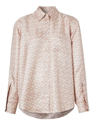 Burberry juliette tb monogram silk shirt