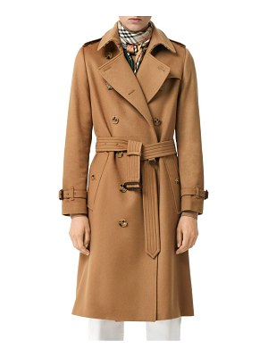 Burberry kensington cashmere trench coat