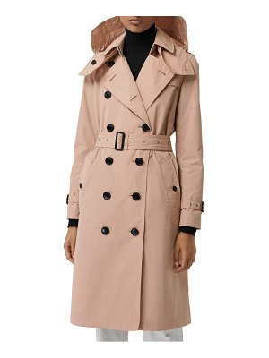 Burberry kensington hooded trench coat