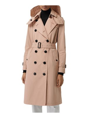 Burberry Kensington Taffeta Trench Coat w/ Removable Hood