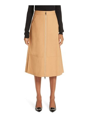 Burberry lagan leather skirt