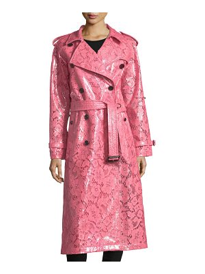 Burberry Laminated Lace Trench Coat