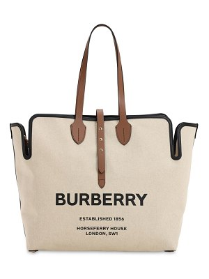 Burberry Large logo print canvas tote bag