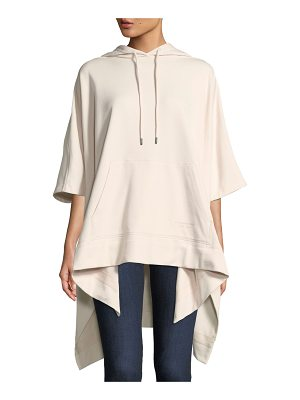 BURBERRY Leila Jersey Hooded Poncho