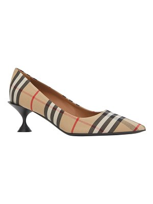 Burberry Lillyton Check Pointed Pumps