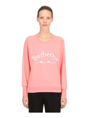 Burberry Logo printed cotton jersey sweatshirt