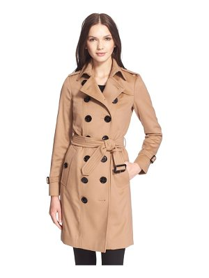 Burberry London 'sandringham' long slim cashmere trench coat