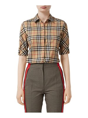 Burberry luka vintage check stretch cotton twill shirt