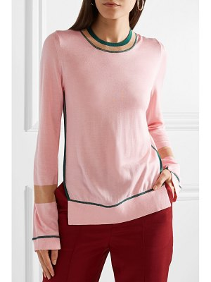 Burberry mancos silk and cashmere-blend sweater