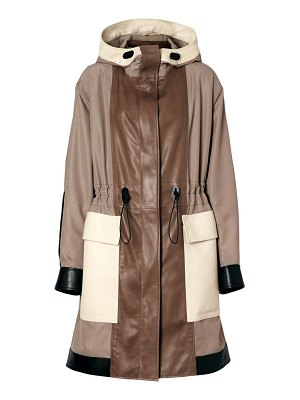 Burberry marazion leather drawstring parka