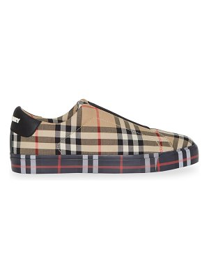 Burberry markham check sneakers