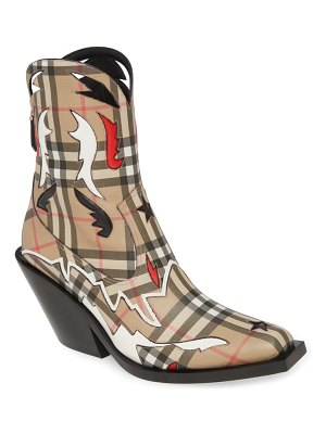 Burberry matlock e-canvas cowboy boot