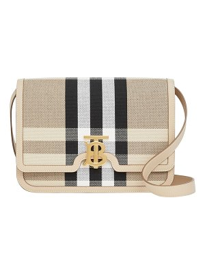 Burberry Medium Check Canvas/Leather Crossbody Bag