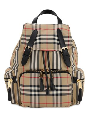 Burberry Medium checked nylon backpack