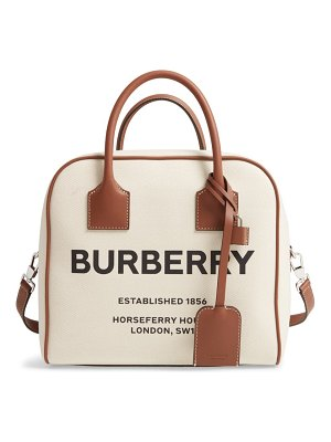 Burberry medium cube canvas satchel