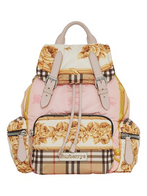 Burberry Medium Rucksack Silk-Print Puffer Backpack