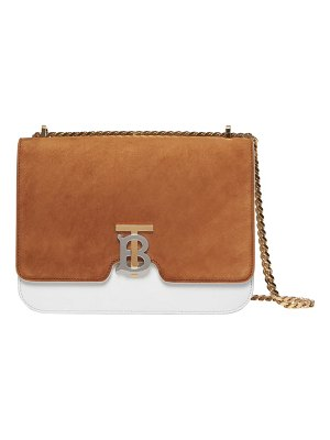 Burberry medium tb two-tone leather shoulder bag