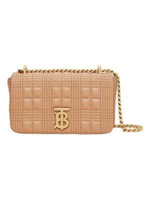 Burberry mini lola quilted check leather bag