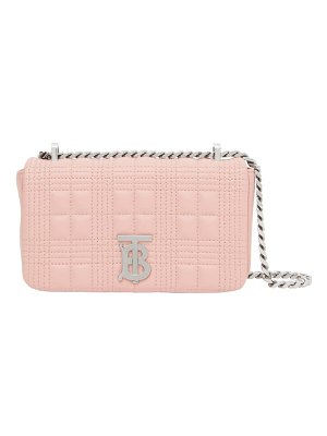 Burberry mini lola tb quilted check leather bag