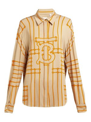 Burberry monogram print silk blend shirt