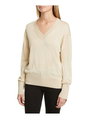 Burberry navuloa logo tape merino wool & silk sweater