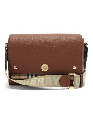 Burberry note grained-leather shoulder bag