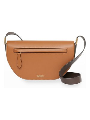 Burberry Olympia Small Two-Tone Smooth Leather Crossbody Bag