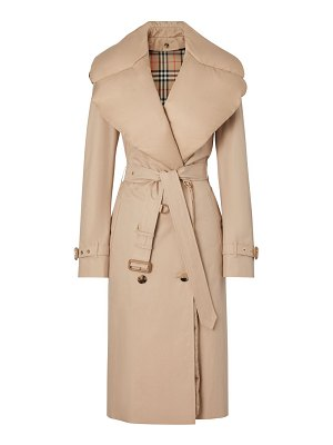 Burberry padded down-collar trench coat