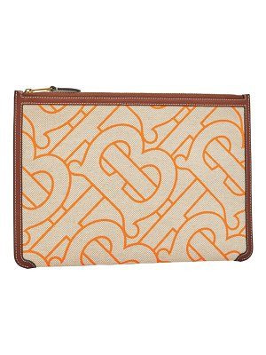 Burberry phyllis tb monogram canvas clutch