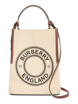 Burberry Printed cotton canvas bucket bag