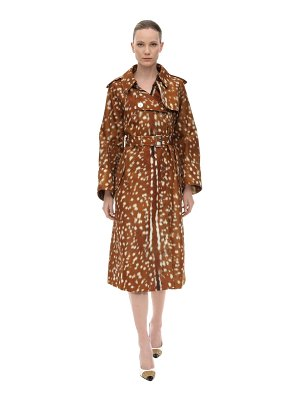 Burberry Printed nylon trench coat