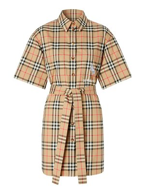 Burberry rachel archive check short-sleeve shirtdress