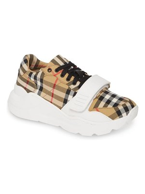 Burberry regis check lace-up sneaker