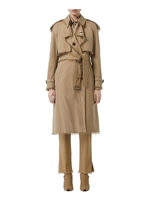 Burberry Ring-Trimmed Double-Breasted Trench Coat